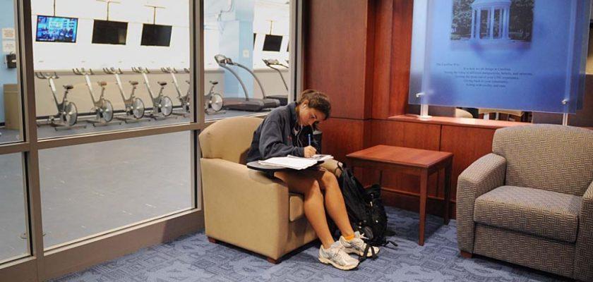 Single Student Studying